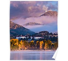 Lake Estes Sunrise and The Stanley Poster