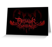 Heavy metal band shadow Greeting Card