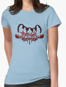 Heavy metal band shadow Womens Fitted T-Shirt