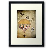 Vintage Balloon Framed Print