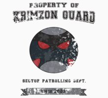 Property of Krimzon Guard (Black Text) T-Shirt