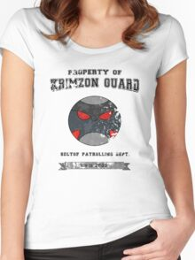 Property of Krimzon Guard (Black Text) Women's Fitted Scoop T-Shirt