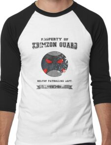 Property of Krimzon Guard (Black Text) Men's Baseball ¾ T-Shirt