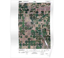 USGS Topo Map Washington State WA Winchester 20110425 TM Poster
