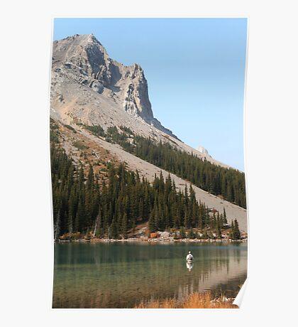 Elbow lake fishing Poster