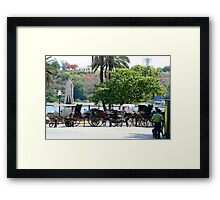 Cuban carriages Framed Print