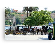 Cuban carriages Canvas Print