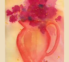 Bouquet in Pitcher by Lynne Goodman