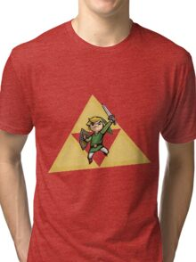 Link with Triforce Tri-blend T-Shirt