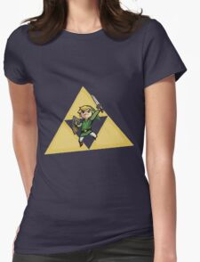 Link with Triforce Womens Fitted T-Shirt