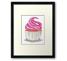 Pink Cupcake Framed Print
