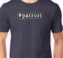 Patriot - Hashtag - Black & White Unisex T-Shirt