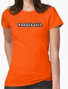 Adorkable - Hashtag - Black & White Womens Fitted T-Shirt