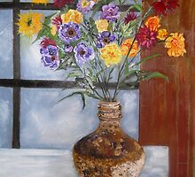 Vietnamese Silk Flowers by Christopher  Raggatt