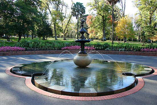 Conservatory fountain, Fitzroy Gardens by Maggie Hegarty