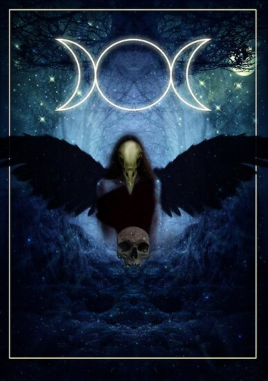"The Celtic Goddess Of the Underworld ""The Morrigan"" by potty"