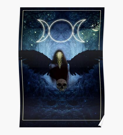 "The Celtic Goddess Of the Underworld ""The Morrigan"" Poster"