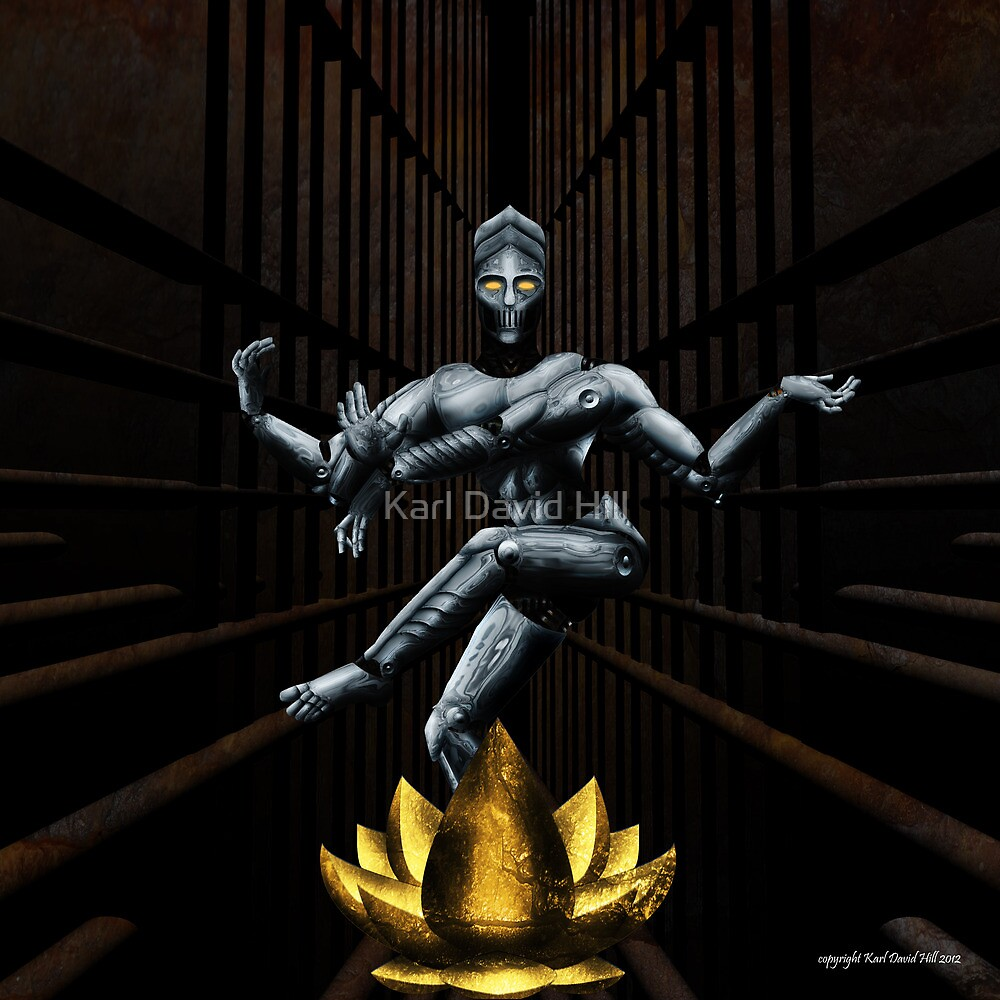 the dance of Shiva 001 by Karl David Hill