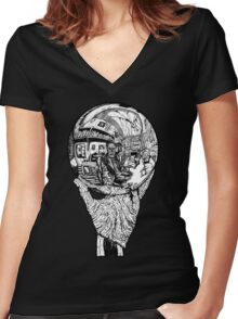The Sitting Dead Women's Fitted V-Neck T-Shirt