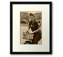 Rosie The Riveter, Revisited, WWII Framed Print
