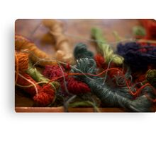 Weaver's Yarn Canvas Print