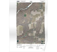 USGS Topo Map Washington State WA Coffeepot Lake 20110401 TM Poster