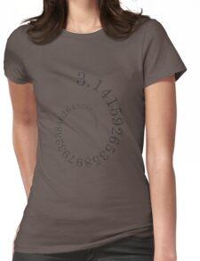 PI Log Spiral Black Womens Fitted T-Shirt