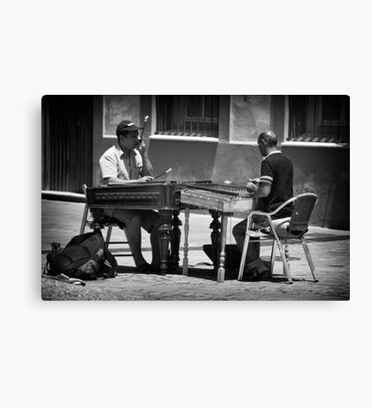 Urban musicians Canvas Print