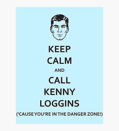 Danger Zone! (Black Fill) Photographic Print