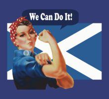 Rosie the Riveter for Scottish Independence T-Shirt by simpsonvisuals