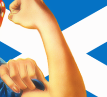 Rosie the Riveter for Scottish Independence T-Shirt Sticker