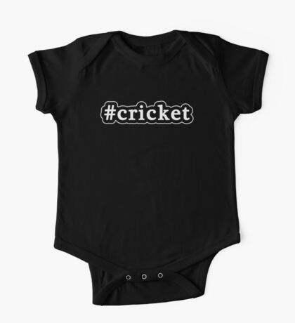 Cricket - Hashtag - Black & White One Piece - Short Sleeve
