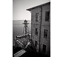 The Lonely Guard Tower - Alcatraz, San Francisco Photographic Print