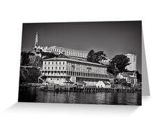 Alcatraz island and Federal Penitentiary Greeting Card