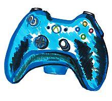 Blue Xbox Controller Photographic Print