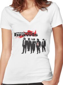 Reservoir Brawls Women's Fitted V-Neck T-Shirt
