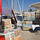 St Tropez quay Side by Jim Hellier