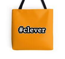 Clever - Hashtag - Black & White Tote Bag