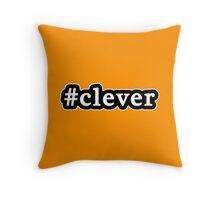 Clever - Hashtag - Black & White Throw Pillow