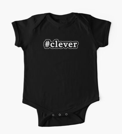 Clever - Hashtag - Black & White One Piece - Short Sleeve