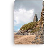 castle ruins above the cliffs Canvas Print