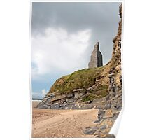 castle ruins above the cliffs Poster