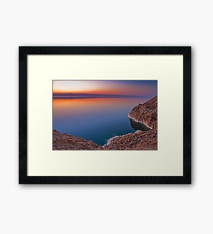 Dead Sea Sunset Framed Print