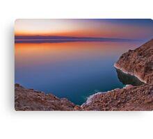 Dead Sea Sunset Canvas Print