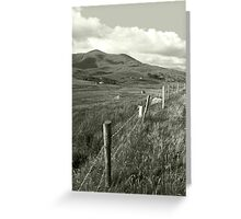 lush fields of ireland Greeting Card