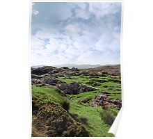 ruin in irish rocky landscape Poster