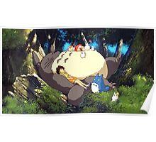 Totoro Napping Poster