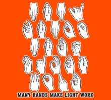 Many Hands Make Light Work Kids Tee