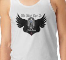 My Blood Type Is Stefan Purple & Black VD Fan Logo Tank Top