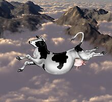 Flying cow by Paul Fleet